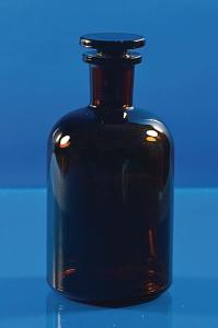 Reagent bottles, narrow or wide neck, with ground-in glass stopper