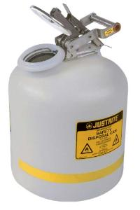 Safety cans for liquid disposal