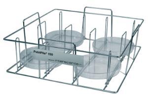 Petri dish racks, stainless steel, PetriPile®