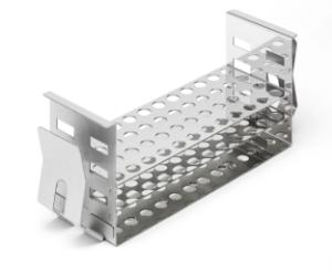 Stainless steel test tube rack for shaking water bath 48×10 mm Ø tubes