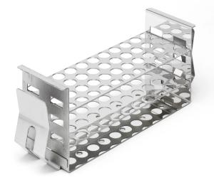 Stainless steel test tube rack for shaking water bath 48×13 mm Ø tubes