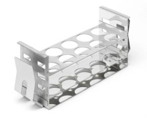 Stainless steel test tube rack for shaking water bath 48×30 mm Ø tubes