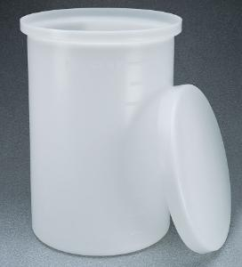 Tanks, cylindrical, heavy-duty, with cover and flexible liners, Nalgene®