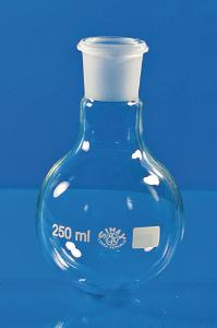 Round bottom flask, clear glass, standard ground joint