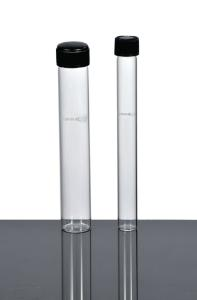 Culture tubes, flat bottom, with screw cap