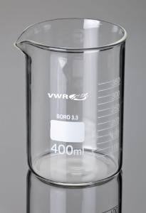 Beaker, low form with graduation and spout