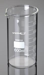 Beaker, tall form, borosilicate glass
