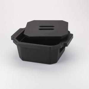 Ice buckets, rectangular, with lid