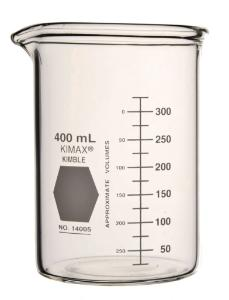 Beaker, heavy-duty, low form