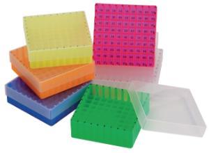 Storage boxes for sample vials/bottles