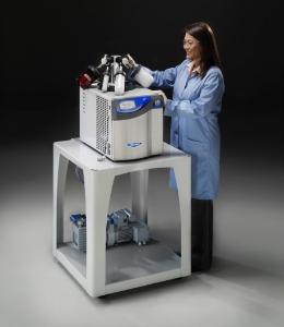Benchtop freeze dryer, 2,5 l, with 4-port manifold on FreeZone cart